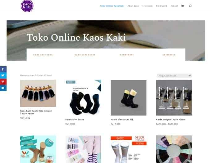 contoh toko online distributor