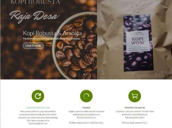 contoh website toko online tokodonasikita
