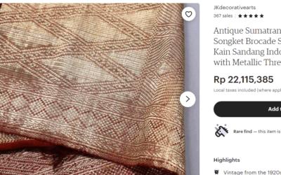 Songket Minang, Warisan Budaya Yang Semakin Berharga