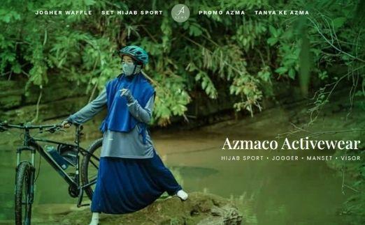brand hijab sport azmaco.id
