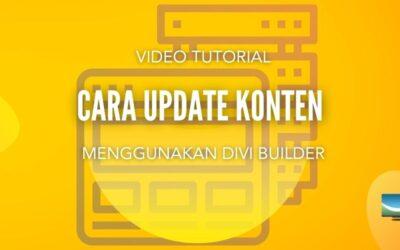 Cara Update Konten Website Menggunakan DIVI Builder