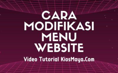 Cara Modifikasi Menu Website Agar Tampil Lebih Menarik